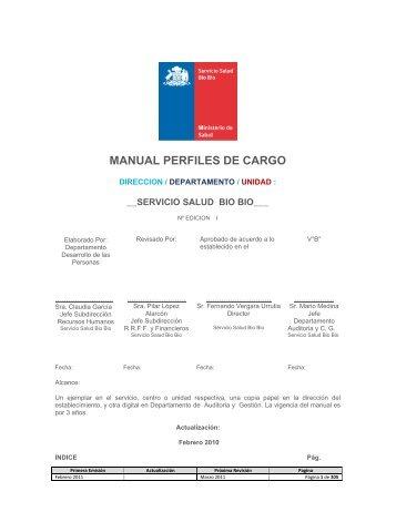MANUAL PERFILES DE CARGO - Servicio de Salud Bío Bío
