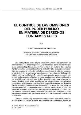 el control de las omisiones del poder público en ... - e-Spacio - Uned