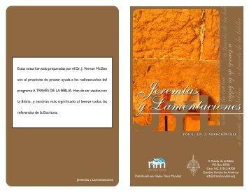 Estudio de Jeremias y Lamentaciones - RTM Uruguay