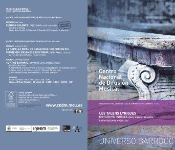 Centro Nacional de Difusión Musical - Auditorio Nacional de Música