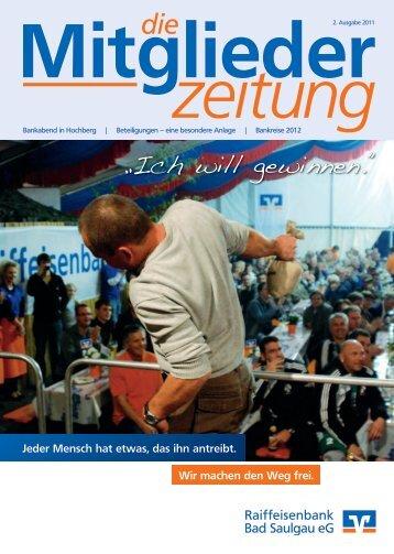 Ausgabe 2/2011 (Dateigröße: 5,99 MB) - Raiffeisenbank Bad ...
