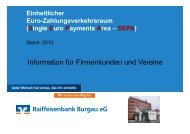 Unterlagen zur SEPA-Informationsveranstaltung - Raiffeisenbank ...