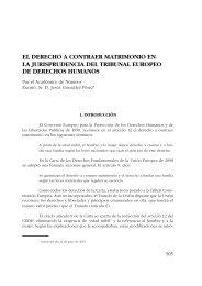 El derecho a contraer matrimonio en la jurisprudencia del Tribunal ...