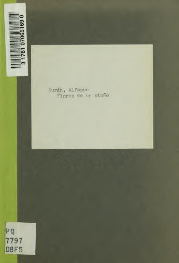 Flores de un otoño. Prólogo de Juan José de Soiza Reilly