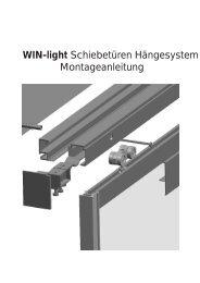 WIN-light Schiebetüren Hängesystem Montageanleitung