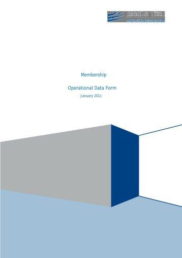 Membership Operational Data Form - Monte Titoli
