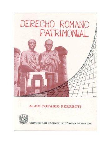 DERECHO ROMANO PATRIMONIAL - bibliotecas morelos