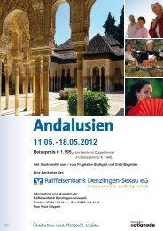Reiseprospekt - Raiffeisenbank Denzlingen-Sexau eG