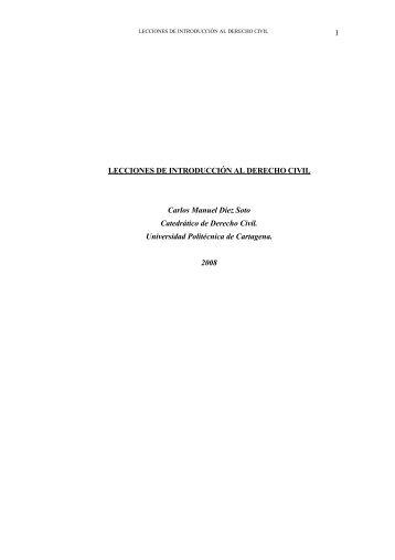 lecciones de introducción al derecho civil - Repositorio Digital UPCT ...
