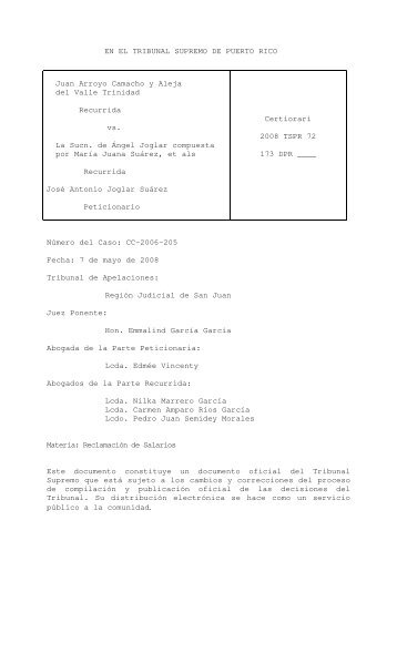2008 TSPR 72 - Rama Judicial de Puerto Rico