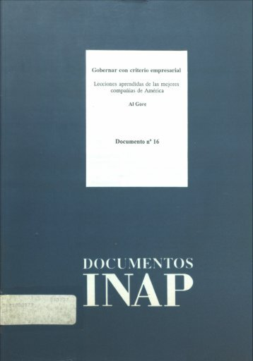 """""""Gobernar con Criterio Empresarial"""". - Instituto Nacional de ..."""