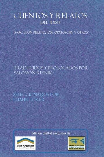 Cuentos y relatos. Traducidos del Idish por Salomon