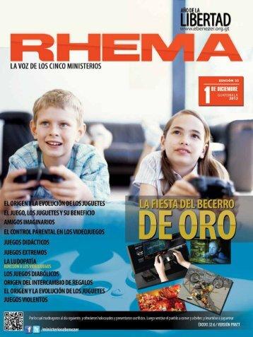revista rhema diciembre 2012. - Ministerios Ebenezer Guatemala