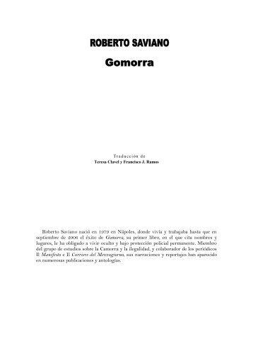 ROBERTO SAVIANO Gomorra - RazonEs de SER