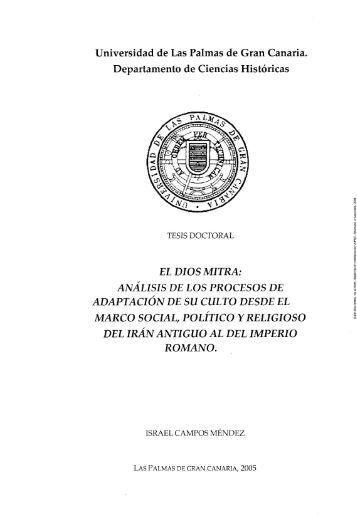 El Dios Mitra - Acceda - Universidad de Las Palmas de Gran Canaria