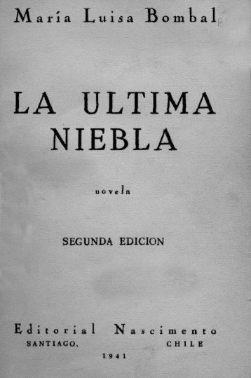 LA ULTIMA NIEBLA - Literatura y libros