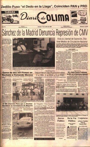 Sánchez de la VadA 0enuncla Represk) n - Universidad de Colima