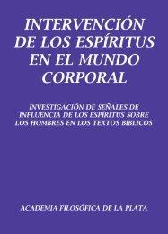Intervención de los Espíritus en el mundo corporal - Academia ...