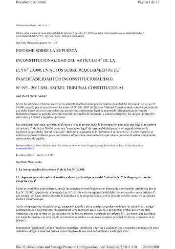 informe sobre la supuesta inconstitucionalidad del artículo ... - SciELO