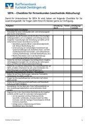 SEPA Checkliste für Firmen