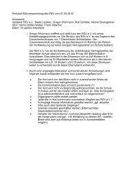Protokoll Elterversammlung des RSV vom 01.03.2012 Anwesend ...