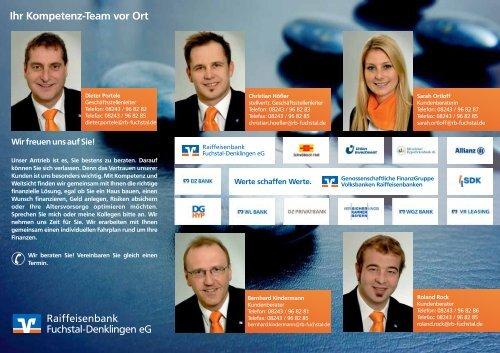 Mitarbeiterteam Geschäftsstelle Denklingen - Raiffeisenbank ...