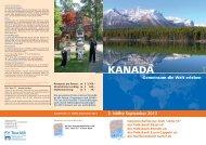 Reiseprospekt Kanada 2013 - Raiffeisenbank Garrel eG