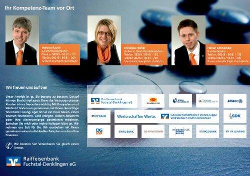 Privatkunden - Raiffeisenbank Fuchstal-Denklingen eG