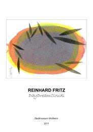 Katalog aller ausgestellten Bilder (als PDF-Datei) - reinhard fritz