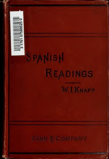 Modern Spanish readings embracing text, notes, and an ...