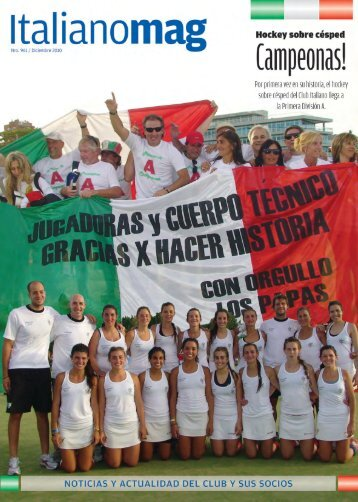 revista italianomag - número 3 - Club Italiano