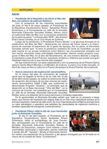 NOTICIARIO - Revista de Marina