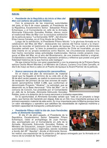 NOTICIARIO - Revista de Marina