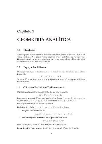 GEOMETRIA ANALÍTICA - Ime