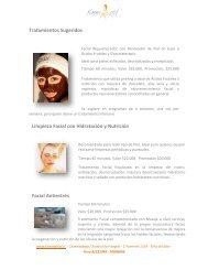 Tratamientos Sugeridos Limpieza Facial con Hidratación y Nutrición ...