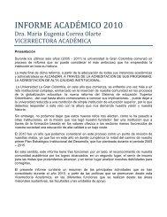 INFORME ACADÉMICO 2010 - Universidad La Gran Colombia