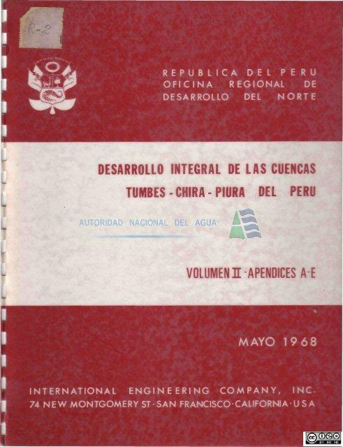 Desarrollo integral de las cuencas Tumbes - Chira - Piura del Perú