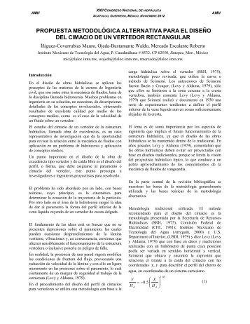 propuesta metodológica alternativa para el diseño del ... - Tláloc