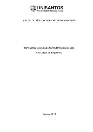 Normatização do Estágio Curricular Supervisionado dos ... - Unisantos