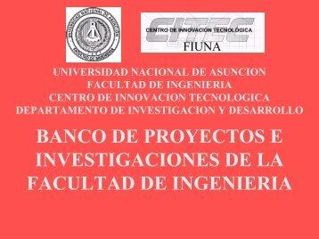 Banco_de_Proyectos_ e _Investigaciones.pdf - Facultad de Ingeniería