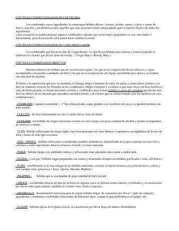 CÓCTELES CONFECCIONADOS EN COCTELERA Los ...