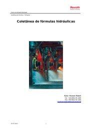 Coletânea de fórmulas hidráulicas - Bosch Rexroth