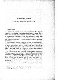 SUI PIANI GRAFICI ESAGONALI - Seminario Matematico