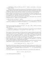CAPITOLO 4, Elementi della teoria delle C∗−algebre; automorfismi ...
