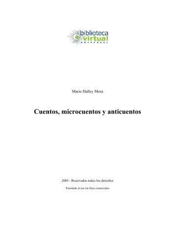 Cuentos, microcuentos y anticuentos - Biblioteca Virtual Universal