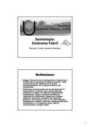 Semiologia: Sindrome Febril Definiciones - Facultad de Medicina