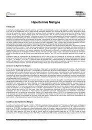 Hipertermia Maligna - Sociedade Brasileira de Anestesiologia