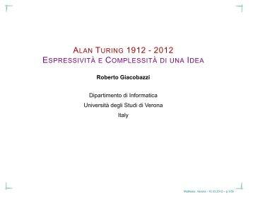 Link alle Slide Conferenza La Macchina di Turing - ITIS G. Marconi