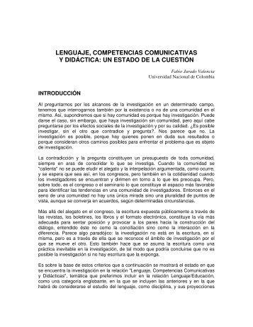 lenguaje, competencias comunicativas y didáctica - Red Maestros ...