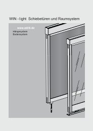 WIN - light Schiebetüren und Raumsystem